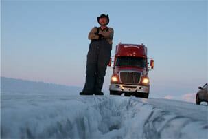 Alex Debogorski Ice Road Truckers 2012
